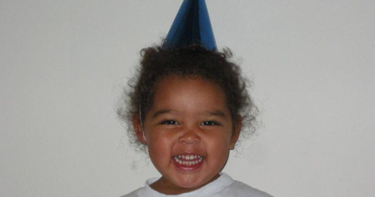 Hannah in Her Clown Hat